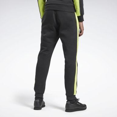 Men Classics Black Panel Jogger Pants