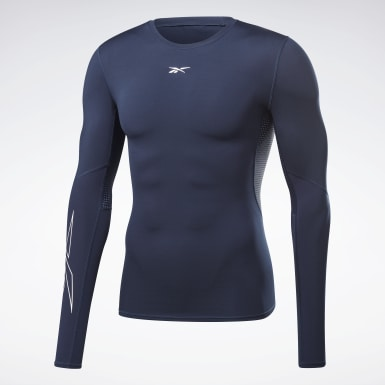 Männer HIIT United by Fitness Compression Shirt Blau