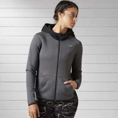 серый Худи Quik Cotton Full Zip