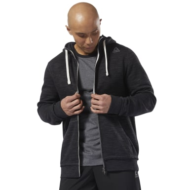 черный Худи Training Essentials Marble Full-Zip