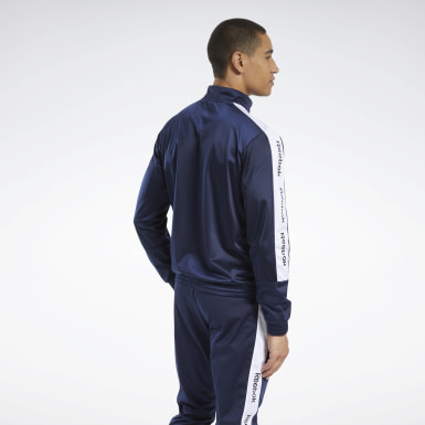 Men Fitness & Training Blue Training Essentials Track Top