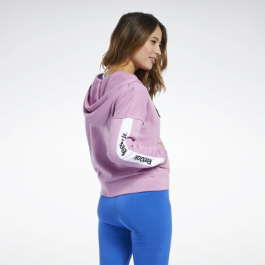 Women Pilates Pink Training Essentials Linear Logo Hoodie
