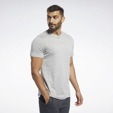 Men Fitness & Training Grey Training Essentials Melange T-Shirt