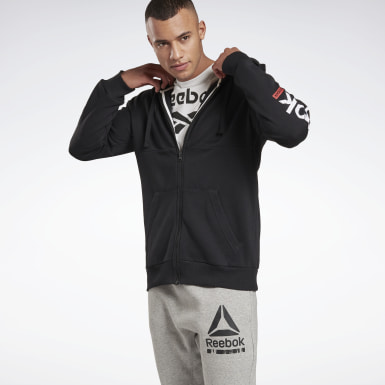Heren Fitness & Training Zwart Training Essentials Linear Logo Hoodie