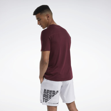 Men Fitness & Training Burgundy Speedwick Graphic Move T-Shirt