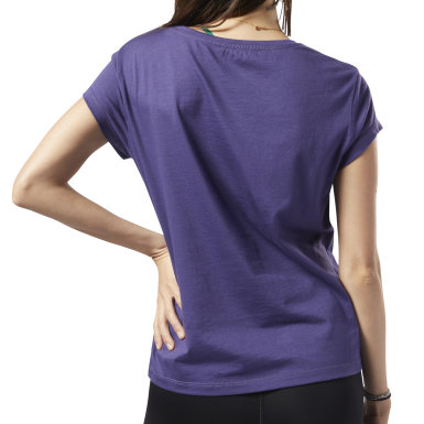 Dames Fitness & Training Paars Graphic Series Aerowarm Easy T-shirt