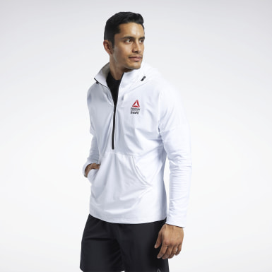 Mænd Cross Training White CrossFit® Control Hoodie