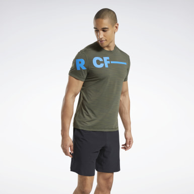 Men Cross Training Green Reebok CrossFit® ACTIVCHILL T-Shirt