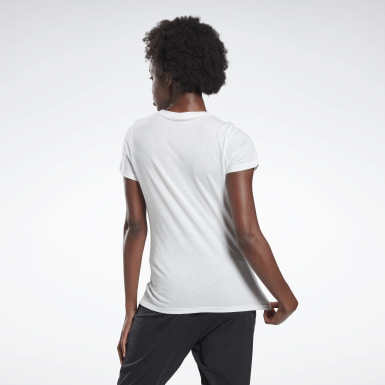 GB W COTTON CREW T VCTR Blanco Mujer Fitness & Training