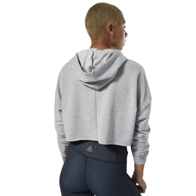 Women Dance Grey Dance Cropped Hoodie