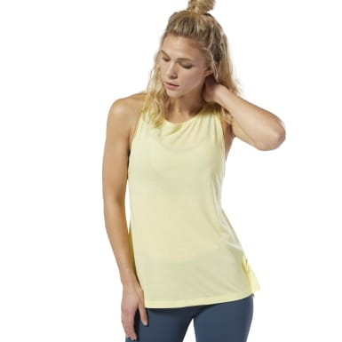 Women Studio Yellow LES MILLS® Supremium Tank Top