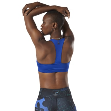Top deportivo de impacto medio Workout Ready Padded Azul Mujer Fitness & Training