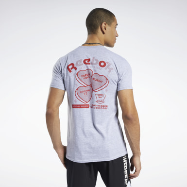Men Training Valentine's Day Hearts Tee