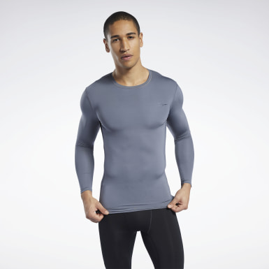 Heren Wandelsport Grijs Workout Ready Compressie T-shirt