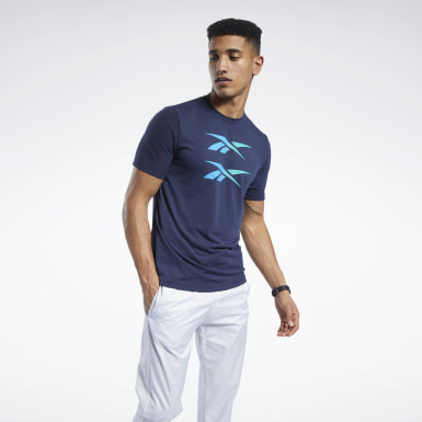 Men Cross Training Blue Tee
