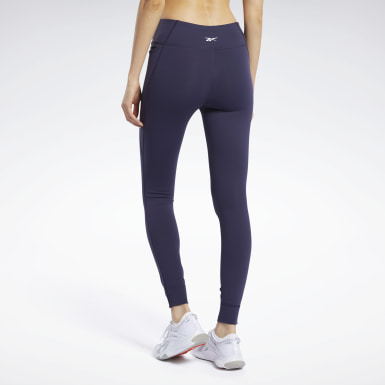 Women Fitness & Training Purple Reebok Lux Tights 2.0