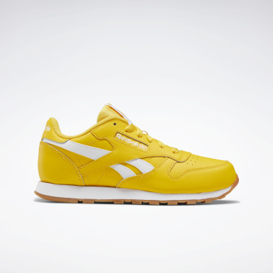 Boys Classics Yellow Classic Leather ATI Shoes - Grade School