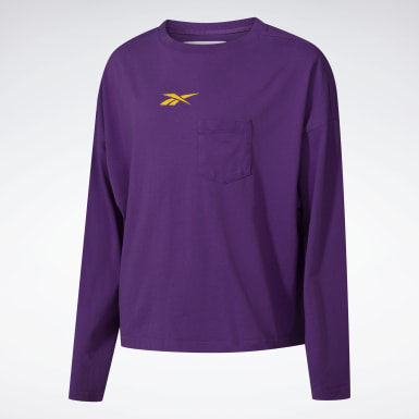 T-shirt à manches longues Reebok by Pyer Moss Purple Classics