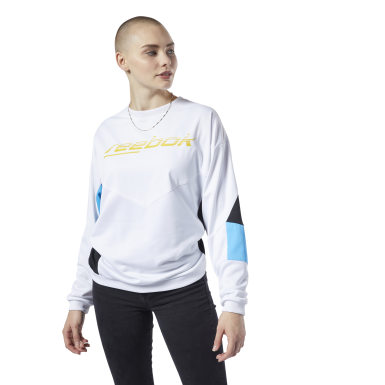Women Classics White Classics Advance Crew Sweatshirt