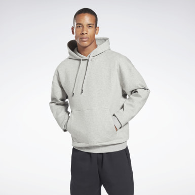 Men Fitness & Training Grey DreamBlend Cotton Hoodie