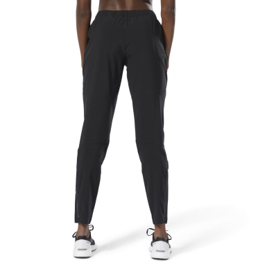 Women Running Black Running Track Pants