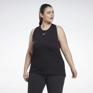 Women HIIT Black Burnout Tank Top (Plus Size)