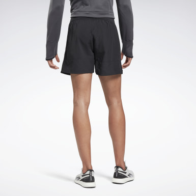 Men Hiking Black Run Essentials 5-Inch Shorts