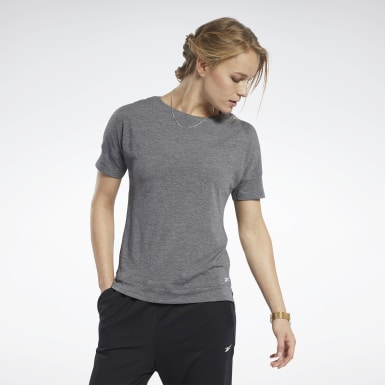 Women Fitness & Training Black ACTIVCHILL+COTTON Tee