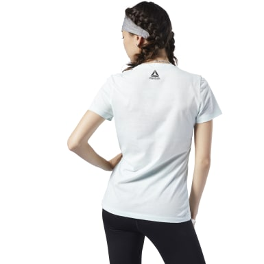 Women Training Blue Graphic Series Today Counts Tee