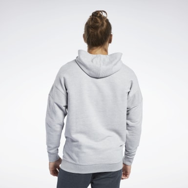 Men Fitness & Training Grey Training Essentials Melange Hoodie
