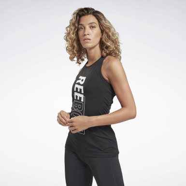 Camiseta sin mangas Studio High Intensity Negro Mujer Estudio