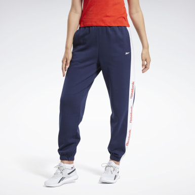 Pantaloni Training Essentials Logo Blu Donna Fitness & Training