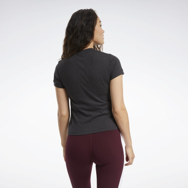 Women Fitness & Training Black Training Essentials Textured Tee