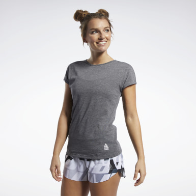 Women Cross Training Black Reebok CrossFit® ACTIVCHILL+COTTON Tee