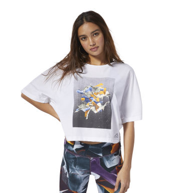 Women Studio White Dance Tee
