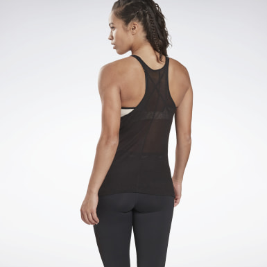 Women Yoga Black Studio Ribbed Tank Top