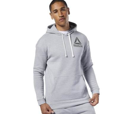 Men Training Grey Marble Melange Hoodie