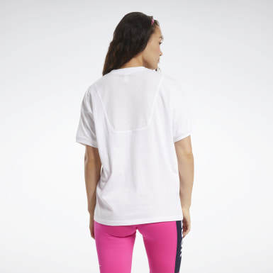 Women Training White MYT Stitch Oversize Tee