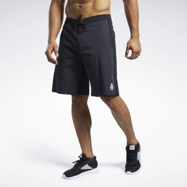Men Training Black Reebok CrossFit® Epic Cordlock Tactical Shorts