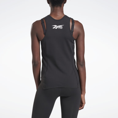 Women Yoga Black VB Performance Tank Top