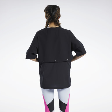 Camiseta Two-in-One Negro Mujer Fitness & Training