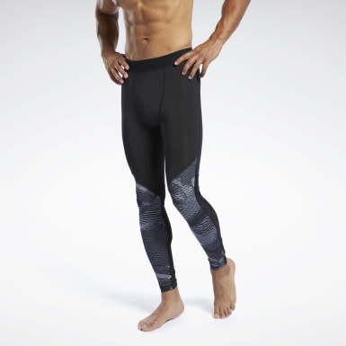 Men Fitness & Training Black Speedwick Compression Tights