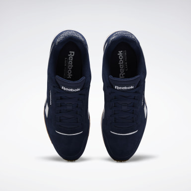Men Classics Blue Reebok Royal Glide Lux Shoes