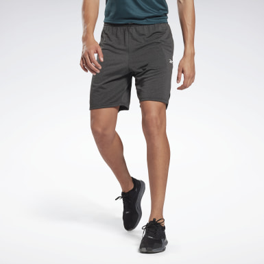 Men Yoga Black Workout Ready Mélange Shorts
