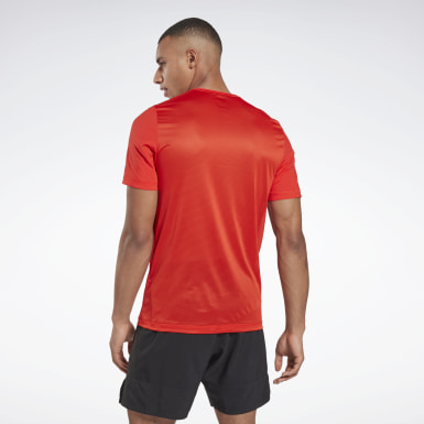 Men Running Red Run ACTIVCHILL Graphic Tee