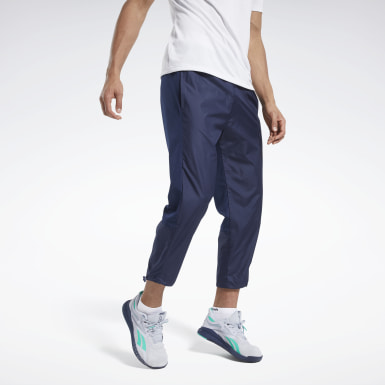 Men Training Blue Woven Pants