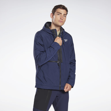 Men Outdoor Blue Outerwear Core Jacket