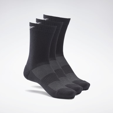 Cross Training Black Active Foundation Mid-Crew Socks 3 Pairs