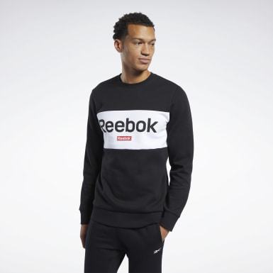 Men Fitness & Training Black Training Essentials Linear Logo Sweatshirt