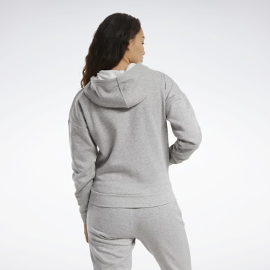 Kvinder Outdoor Grey Training Essentials Full-Zip Hoodie
